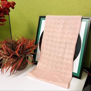 Accessories - NWOT lightweight knitted light pink scarf